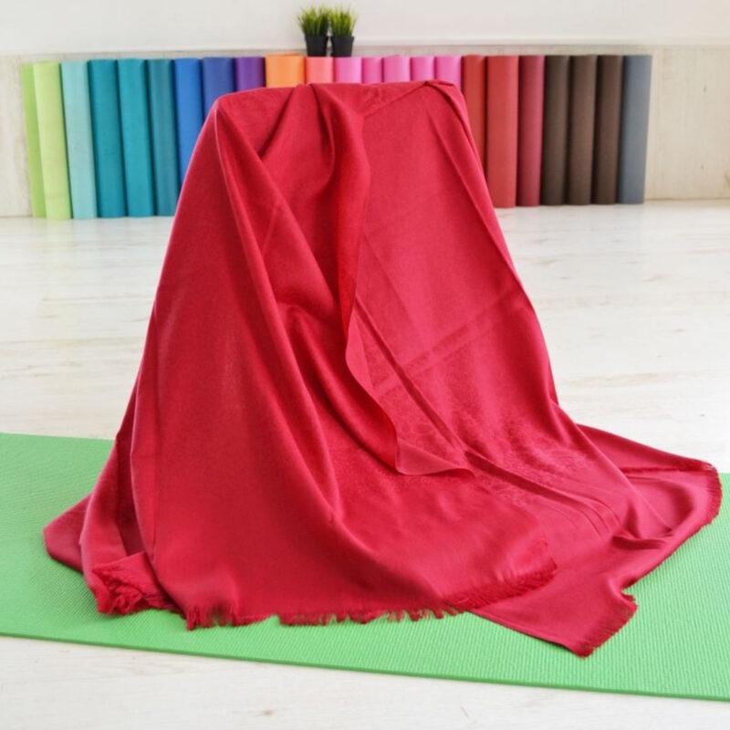 Шал за медитация Pashmina maroon color