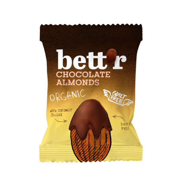 Био Шоколадови Бадеми Bett'r 40 г.
