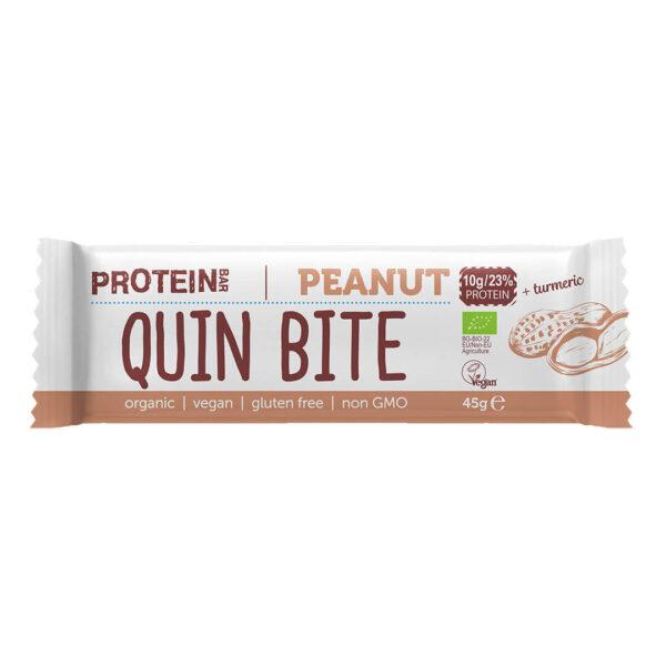 Био протеинов бар QUIN BITE Фъстък 45 г.