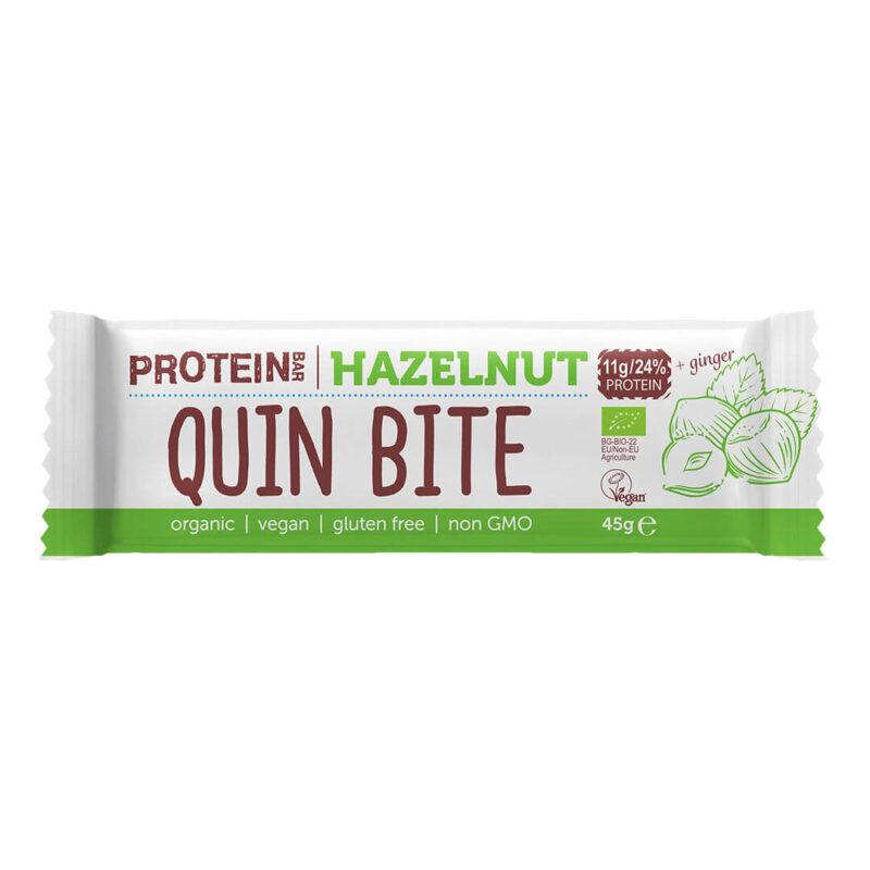 Био протеинов бар QUIN BITE Лешник 45 г.