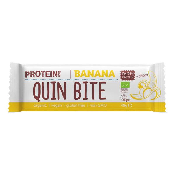 Био протеинов бар QUIN BITE Банан и шоколад 45 г.