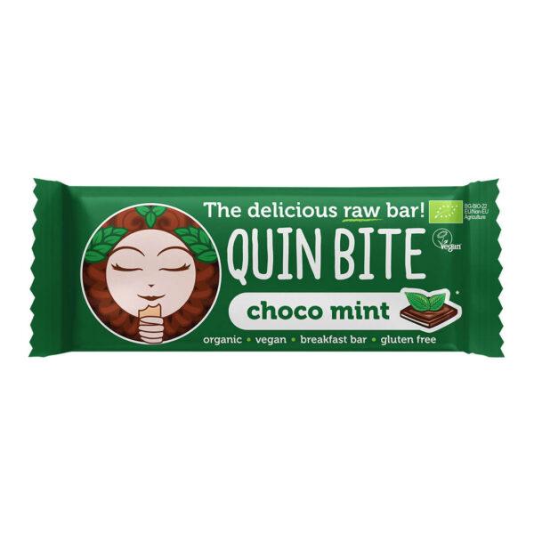 Био сурово барче QUIN BITE Мента и шоколад 30 г .