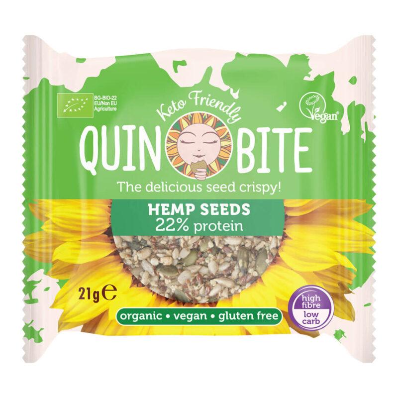 Био хрупки от семена QUIN BITE  Конопено семе 21 г.
