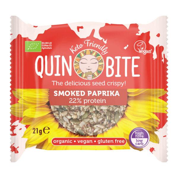Био хрупки от семена QUIN BITE  Пушен пипер 21 г.