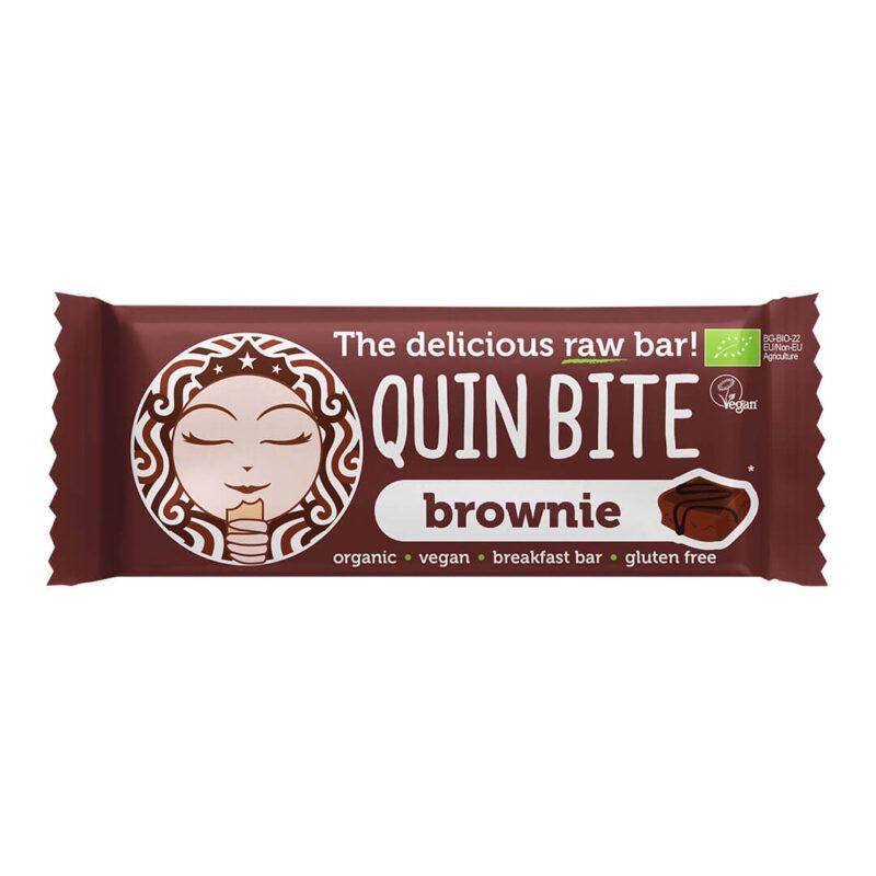 Био сурово барче QUIN BITE Брауни 30 г.