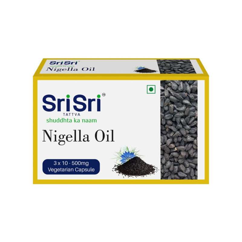 Nigella oil 30 capsules of 500 mg.
