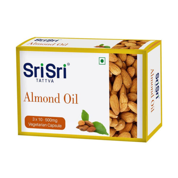 Almond oil 30 capsules of 500 mg.